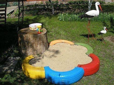 floreros hechos de llantas sandbox til b 248 rn til landet de tanker og billeder