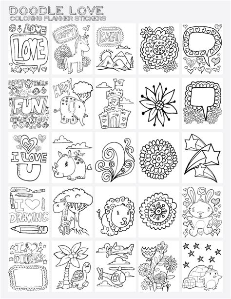 planner doodles 101 step by step drawings books 2 draw coloring pages coloring pages