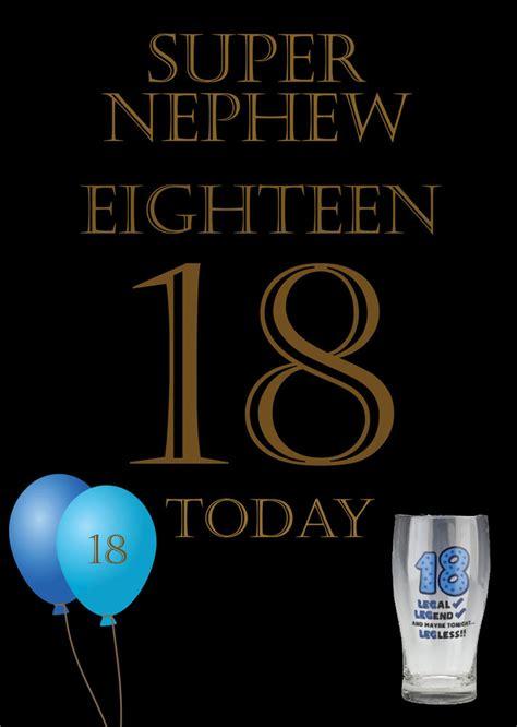 Happy 18 Birthday Wishes For Nephew Nephew 18th Birthday Card Ebay