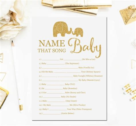Songs For Baby Showers by Elephant Baby Shower Name That Song Baby Songs