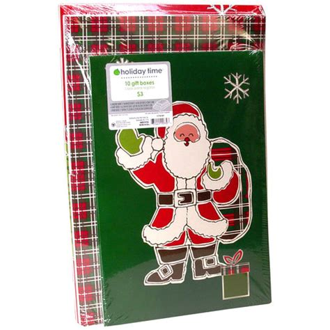 holiday time 10 pack christmas gift boxes traditional