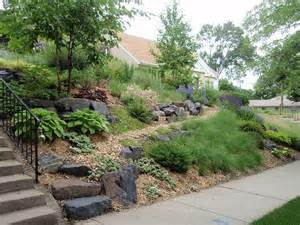 Landscape Sloping Front Yard Pictures Front Slope Solution Sloped Front Yard Landscaping