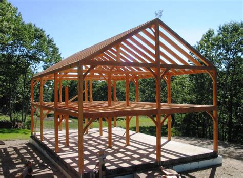 Blueprints For Garages by Post And Beam Construction Building With Wood