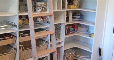 pantry with ladder if i enough space for a walk in