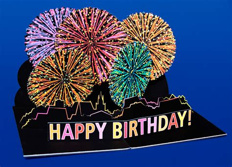 Pop Up Card Happy Birthday Template Pop Up Card Fireworks Happy Birthday Cards