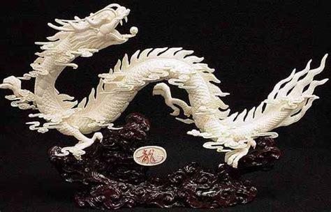 Carved Ivory Vase Dragon Bone Carving Bone Dragons
