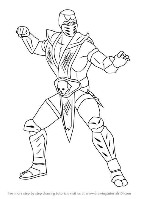 how to draw scorpion from mortal kombat x easy things to learn how to draw scorpion from mortal kombat mortal