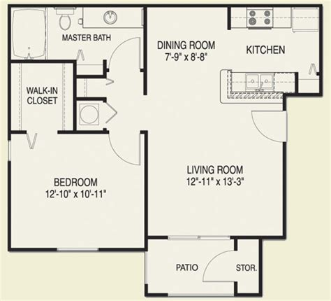 large one bedroom floor plans one bedroom apartment floor plans house plans