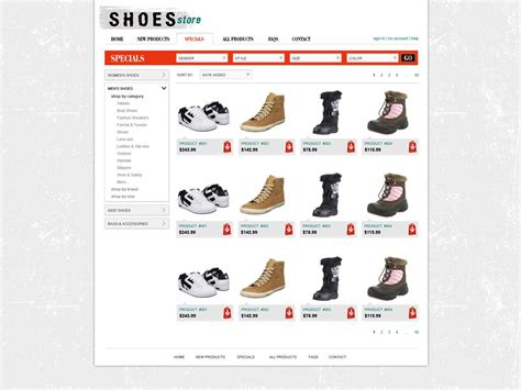 Free Shopping Cart Website Template Online Store Templates Phpjabbers Shopping Cart Html Template