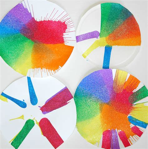 color crafts for rainbow spin what can we do with paper and glue