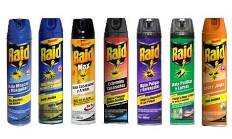 todos los insectos se pueden matar con cualquier raid en