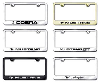 mustang frames mustang license plate frames