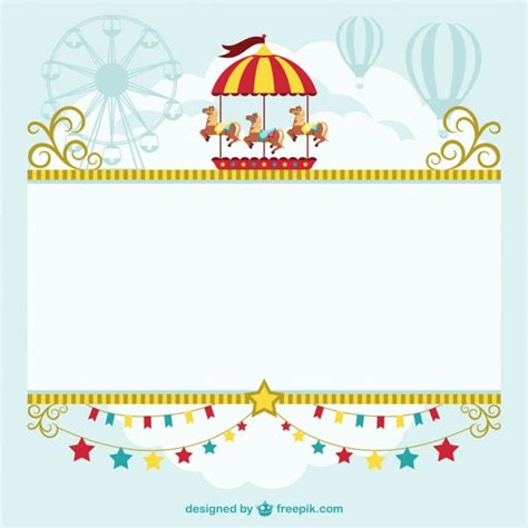 Circus Tent Template Card by Circus Tent Template Free Vector Free