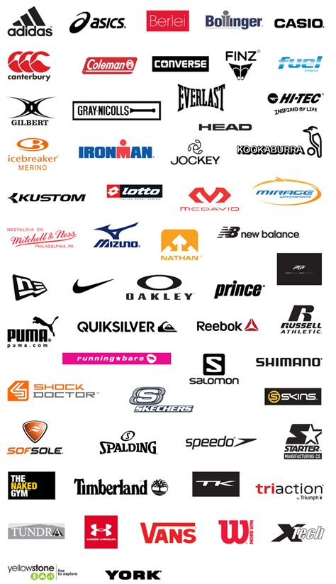 athletic shoe brands list athletic shoe brands logos 28 images sport shoes