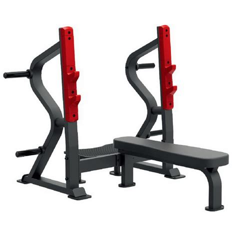 plate loaded bench press bodytastic escalate sl7028 flat olympic bench press