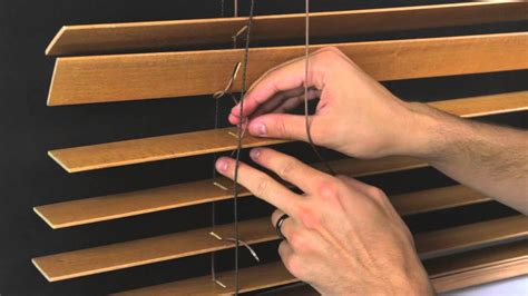 jalousie reparieren schnur how to restring a horizontal wood blind