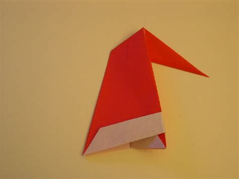 How To Make An Origami Santa Hat - origami santa hat folding how to make an