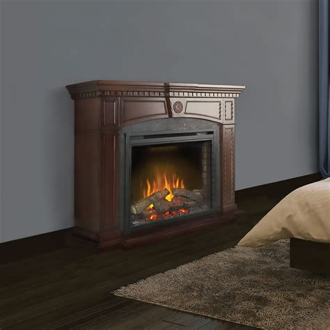 harlow electric fireplace mantel package in mahogany