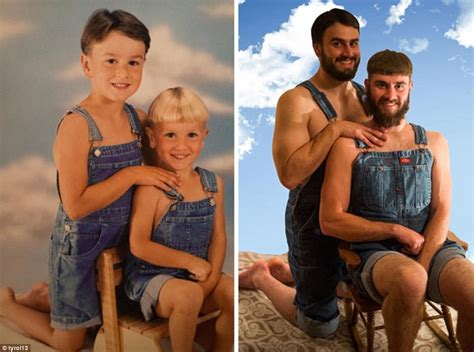 The Best Pose Takes Time by Siblings Hilariously Recreate Photos From Their Childhood
