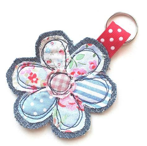 Handmade Fabric Keyrings - fabric flower key ring 163 3 00 via etsy flowers
