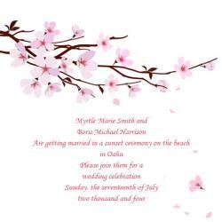 Cherry Blossom Theme Wedding Ideas Lovetoknow Cherry Blossom Invitation Template Free