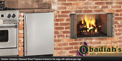 Outdoor Fireplace Clearance by Majestic Quadrafire Villawood Outdoor Wood Fireplace By
