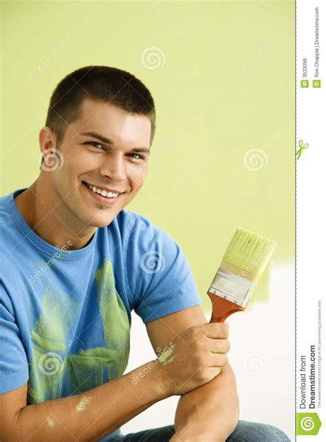 paint man man painting wall royalty free stock images image 3533099