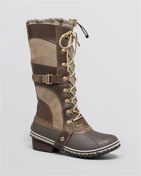 cold weather boots for sorel lace up cold weather boots conquest in green