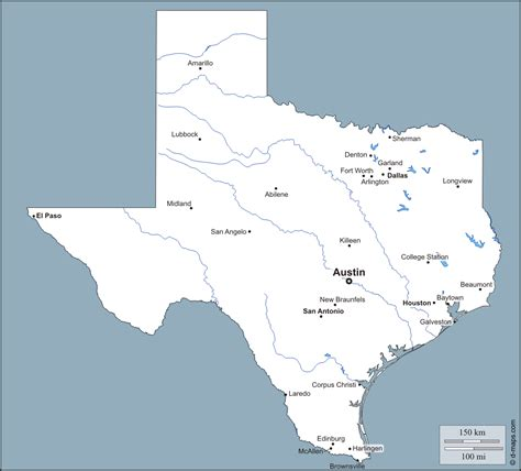 map of texas cities only blank map of texas rivers
