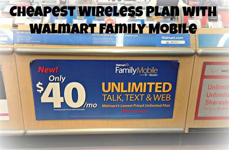 cheap wireless plan  walmart family mobile guide
