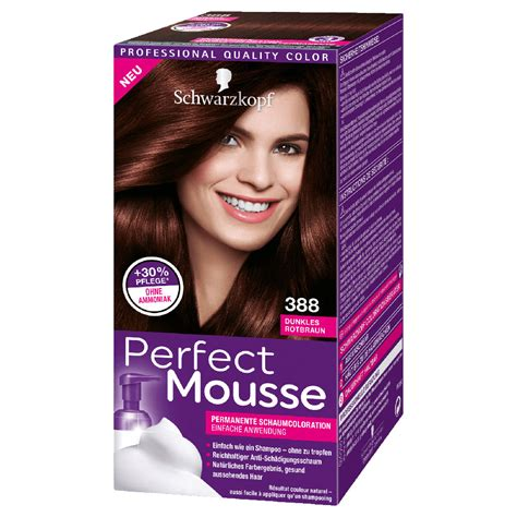 best drug store hair color to cover the grey schwarzkopf perfect mousse 388 dark reddish brown german