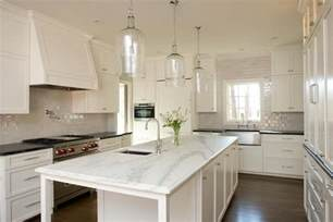 Long Island Kitchen Cabinets long kitchen island with corsica 1 light pendants