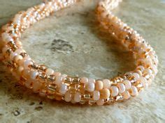 mixed copper white beaded kumihimo bracelet with gold beaded kumihimo necklaces on pinterest cluster necklace