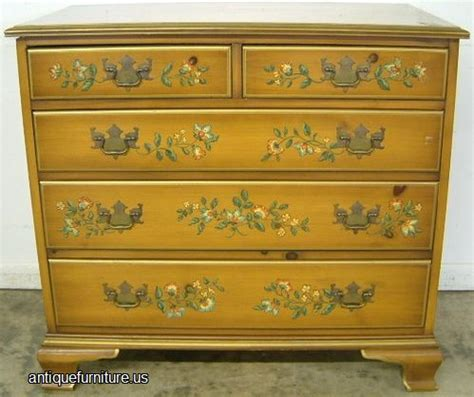 Antique Drexel Furniture by Antique Drexel Paint Decorated Chest At Antique Furniture Us