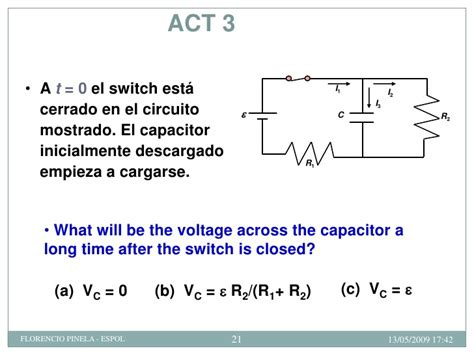 voltage across capacitor after switch is closed circuitos rc f 237 sica c espol