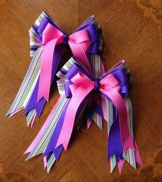 diy equestrian hair bows hair bows bows with tails on pinterest equestrian hair