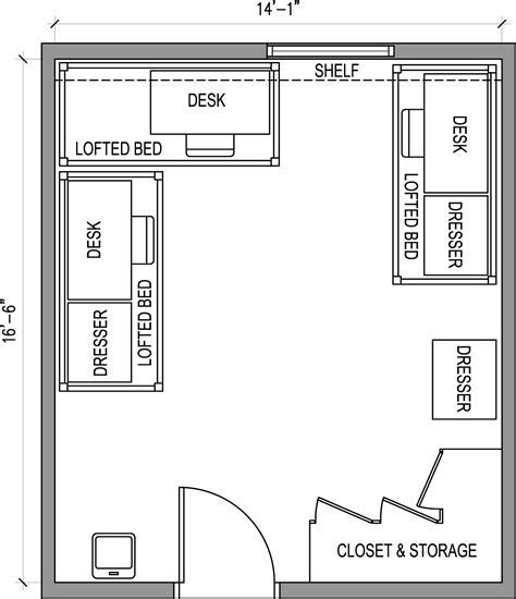 Apartment Floor Plans With Dimensions by Rooms Residential Life Minnesota State University Mankato