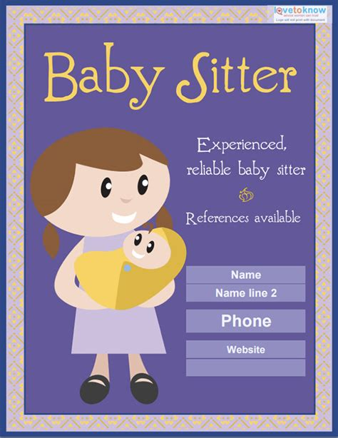 babysitting flyer template babysitting flyers www pixshark images galleries