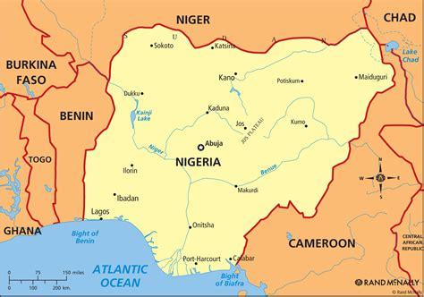nigéria niger kartenrand