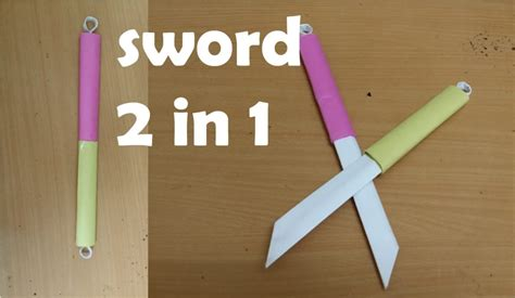 How To Make Paper Weapons At Home - free coloring pages how to make a paper sword two