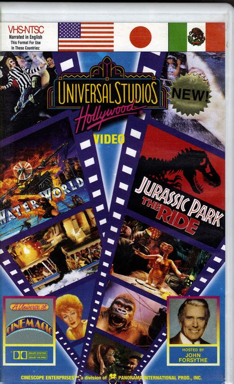 Universal Studios Hollywood Gift Card - quot universal studios hollywood quot quot a universe of cinemagic quot theme park vhs video ebay