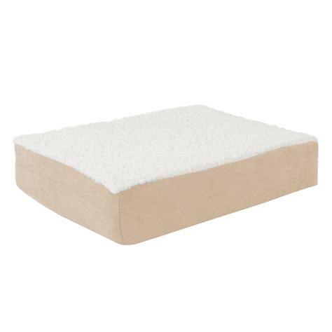 orthopedic pet beds petmaker small tan orthopedic sherpa pet bed m320140 the