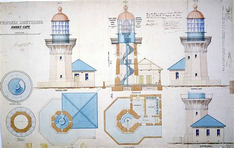 make a blueprint for free file smoky cape light lighthouse plans 1888 jpg wikimedia commons