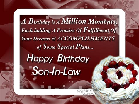 Birthday Quotes For In Birthday Quotes Son In Law Bing Images Greeting Card