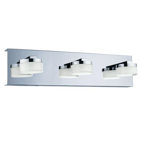 integrated led vanity light eglo romendo 60 watt chrome integrated led bath light