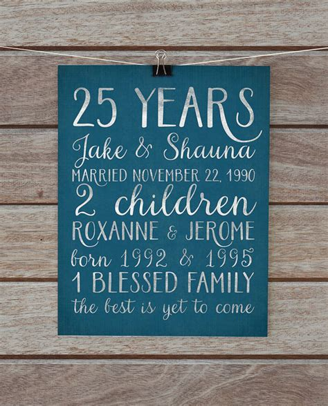 40th Wedding Anniversary Song List by 25th Anniversary Gift Silver 25 Year Anniversary Gift For