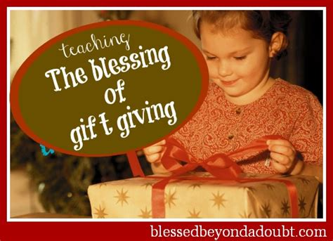 teaching children the blessing of gift giving christmas