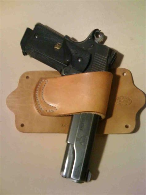 Headboard Gun Holster by Ccw Bed Side Companion Leather Holsters
