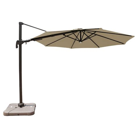offset umbrella with solar lights patio umbrella 10 aluminum solar light offset patio