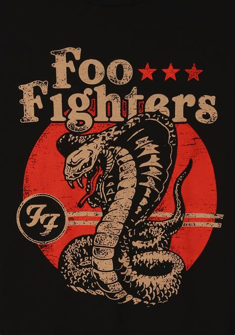 foo fighters cobra t shirt